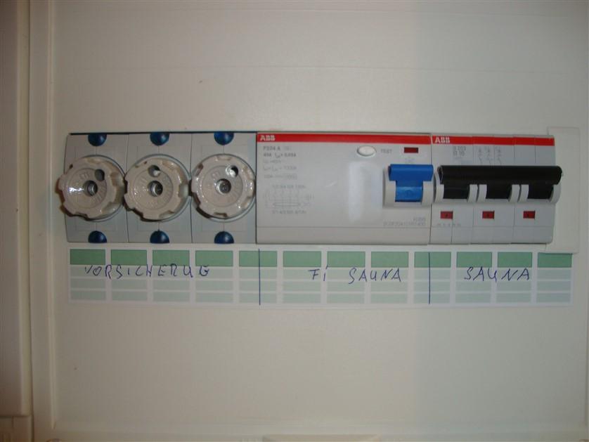 Verkabelung und Anschluss einer Sauna - Elektriker -Notdienst ...
